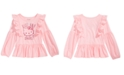 Hello Kitty Toddler Girls Ruffle-Trim Printed T-shirt