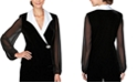 Alex Evenings Collared Stretch Velvet Jacket