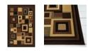 """Global Rug Designs Yorba YOR07 Black 5'3"""" x 7'2"""" Area Rug"""