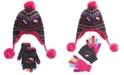 Hello Kitty Big Girls 2-Pc. Heidi Hat & Layered Gloves Set