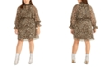 RACHEL Rachel Roy Trendy Plus Size Lucky Leopard Dress