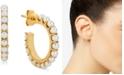 Macy's Cultured Freshwater Pearl (2-1/2mm) Hoop Earrings in 14k Gold-Plated Sterling Silver