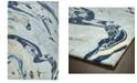 "Kaleen Marble MBL01-17 Blue 9'6"" x 13' Area Rug"
