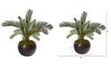 """Nearly Natural 29"""" Cycas Artificial Plant in Metal Bowl"""