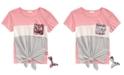 Belle Du Jour Big Girls Flip Sequin Pocket T-Shirt & Mermaid Key-chain