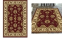 """KM Home CLOSEOUT! 1330/1232/BURGUNDY Navelli Red 7'9"""" x 9'6"""" Area Rug"""