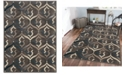 "KM Home CLOSEOUT! 3796/1012/BROWN Imperia Brown 7'10"" x 10'6"" Area Rug"
