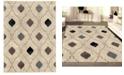 "KM Home CLOSEOUT! 3797/1000/BONE Imperia Ivory/ Cream 3'3"" x 4'11"" Area Rug"