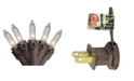 """Northlight Set of 300 Clear Mini Christmas Lights 2.5"""" Spacing - Brown Wire"""