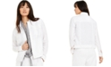 Charter Club Petite Linen Frayed-Edge Jacket, Created For Macy's