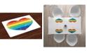 Ambesonne Vintage-Like Rainbow Place Mats, Set of 4