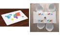 Ambesonne Map Place Mats, Set of 4