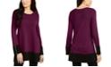 Alfani Ottoman-Knit Tunic Sweater, Created For Macy's