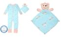 Max & Olivia Baby Girls 2-Pc. Unicorn-Print Pajama & Bear Blankie Buddy Set, Created For Macy's