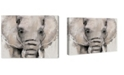 """Oliver Gal Abstract Elephant Canvas Art, 24"""" x 18"""""""