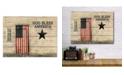 "Courtside Market God Bless American Flag 16"" x 20"" Wood Pallet Wall Art"
