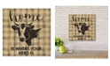 """Courtside Market Home Is Where Your Herd Is 12"""" x 12"""" Wood Pallet Wall Art"""