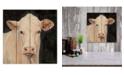 "Courtside Market Moo-Licious 12"" x 12"" Wood Pallet Wall Art"