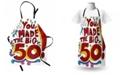 Ambesonne 50th Birthday Apron