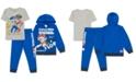 Nickelodeon Little Boys 3-Pc. PAW Patrol Hoodie, T-Shirt & Joggers Set
