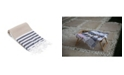 Olive and Linen Multicolor Stripe Turkish Hand/Kitchen Towel