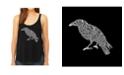 LA Pop Art Women's Premium Word Art Flowy Tank Top- Edgar Allen Poe's The Raven