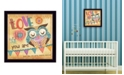 "Trendy Decor 4U Owl By Mollie B., Printed Wall Art, Ready to hang, Black Frame, 14"" x 14"""