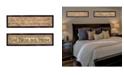 "Trendy Decor 4U Blessed Home 2-Piece Vignette by Gail Eads, Black Frame, 20"" x 6"""