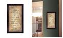 "Trendy Decor 4U For God So Loved by Gail Eads, Ready to hang Framed Print, Black Frame, 10"" x 18"""