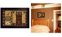 """Trendy Decor 4U Primitive Shadowbox By Carrie Knoff, Printed Wall Art, Ready to hang, Black Frame, 14"""" x 10"""""""