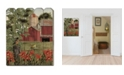 """Trendy Decor 4U Summer Days by Billy Jacobs, Printed Wall Art on a Wood Picket Fence, 16"""" x 20"""""""
