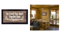 """Trendy Decor 4U The Family that Hunts By Dee Dee, Printed Wall Art, Ready to hang, Black Frame, 20"""" x 11"""""""