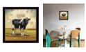 """Trendy Decor 4U Colby the Cow by Bonnie Mohr, Ready to hang Framed Print, Black Frame, 14"""" x 14"""""""