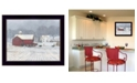 """Trendy Decor 4U The Home Place by Bonnie Mohr, Ready to hang Framed Print, Black Window-Style Frame, 18"""" x 14"""""""