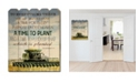 """Trendy Decor 4U Time to Plant by Cindy Jacobs, Printed Wall Art on a Wood Picket Fence, 16"""" x 20"""""""