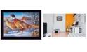 "Trendy Decor 4U Frosty Morning Ringnecks by Kim Norlien, Ready to hang Framed Print, Black Frame, 20"" x 14"""