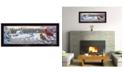 """Trendy Decor 4U White Crimson Morning by Kim Norlien, Ready to hang Framed Print, Black Frame, 38"""" x 14"""""""