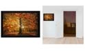 "Trendy Decor 4U Autumn Leaves by Martin Podt, Ready to hang Framed Print, Black Frame, 18"" x 12"""