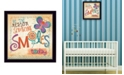 """Trendy Decor 4U Be the Reason Someone Smiles By Mollie B., Printed Wall Art, Ready to hang, Black Frame, 14"""" x 14"""""""