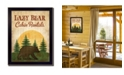 "Trendy Decor 4U Lazy Bear By Mollie B., Printed Wall Art, Ready to hang, Black Frame, 14"" x 18"""
