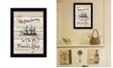 "Trendy Decor 4U Friendship Journey by Millwork Engineering, Ready to hang Framed Print, Black Frame, 10"" x 14"""