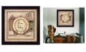 """Trendy Decor 4U Live Today By Mary June, Printed Wall Art, Ready to hang, Black Frame, 14"""" x 14"""""""