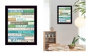 "Trendy Decor 4U Ocean Rules By Marla Rae, Printed Wall Art, Ready to hang, Black Frame, 14"" x 18"""