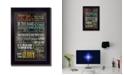 "Trendy Decor 4U The Lords Prayer By Marla Rae, Printed Wall Art, Ready to hang, Black Frame, 14"" x 10"""
