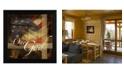 "Trendy Decor 4U One Nation Under God By Marla Rae, Printed Wall Art, Ready to hang, Black Frame, 14"" x 14"""