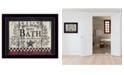 "Trendy Decor 4U Hot Bath by Linda Spivey, Ready to hang Framed Print, Black Frame, 14"" x 10"""