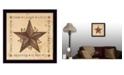 "Trendy Decor 4U Live, Laugh, Love - Barn Star By Linda Spivey, Printed Wall Art, Ready to hang, Black Frame, 14"" x 14"""