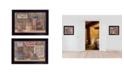 "Trendy Decor 4U Trendy Decor 4U God Bless / Sweet Land 2-Piece Vignette by Pam Britton, Black Frame, 18"" x 14"""