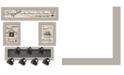"Trendy Decor 4U Kitchen Collection VI 4-Piece Vignette with 7-Peg Mug Rack by Millwork Engineering, Sand Frame, 32"" x 10"""