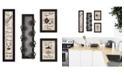 "Trendy Decor 4U Kitchen Collection V 4-Piece Vignette with 7-Peg Mug Rack by Millwork Engineering, Black Frame, 32"" x 10"""